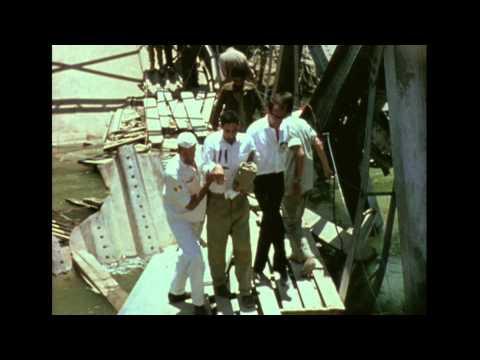 1967,  Jordan. Crossing Allenby Bridge