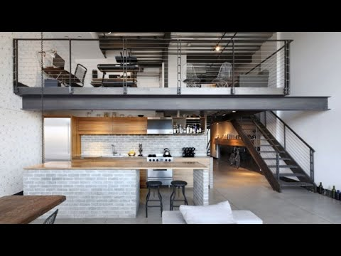 Minimalistic & Industrial Loft Apartment