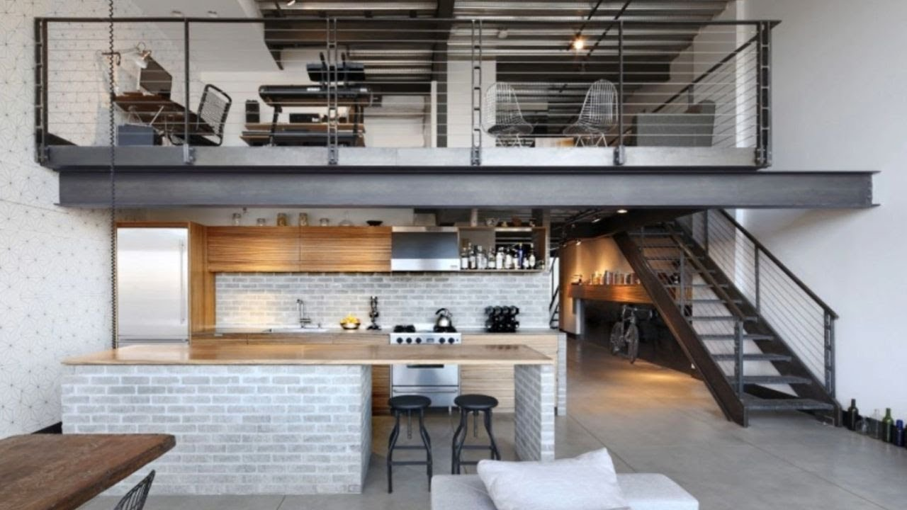 Minimalist industrial loft apartment seattle youtube for Industrial minimalist design