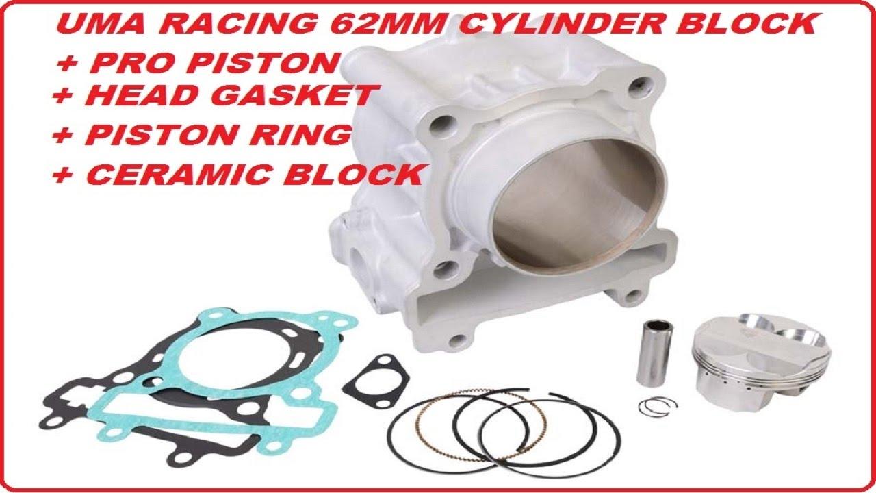 (UMA RACING FORGED PISTON PRO) 62MM CERAMIC CYLINDER BLOCK FOR YAMAHA LC135