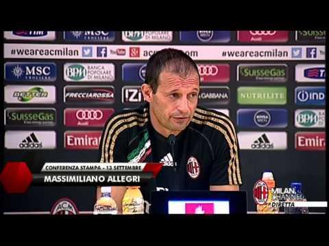 AC Milan | Allegri: 'Kakà? Può partire titolare' (with subtitle)