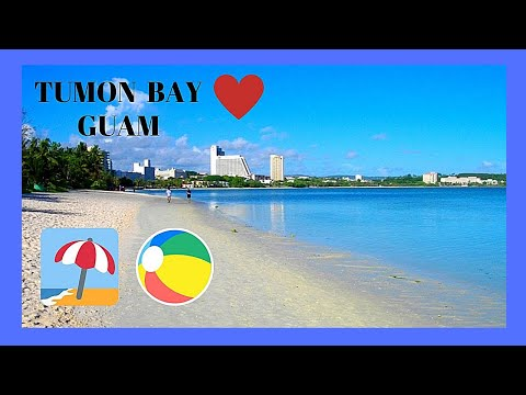 GUAM, the magnificent BEACHES of TUMON BAY (Micronesia, Pacific Ocean)