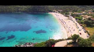 Lefkada aerial 2015.(Beautiful Lefkada island 4K aerial video. Best Beaches in the Mediterranean - Egremnoi, Porto Katsiki, Kathisma, Vasiliki..., 2015-07-11T22:50:38.000Z)
