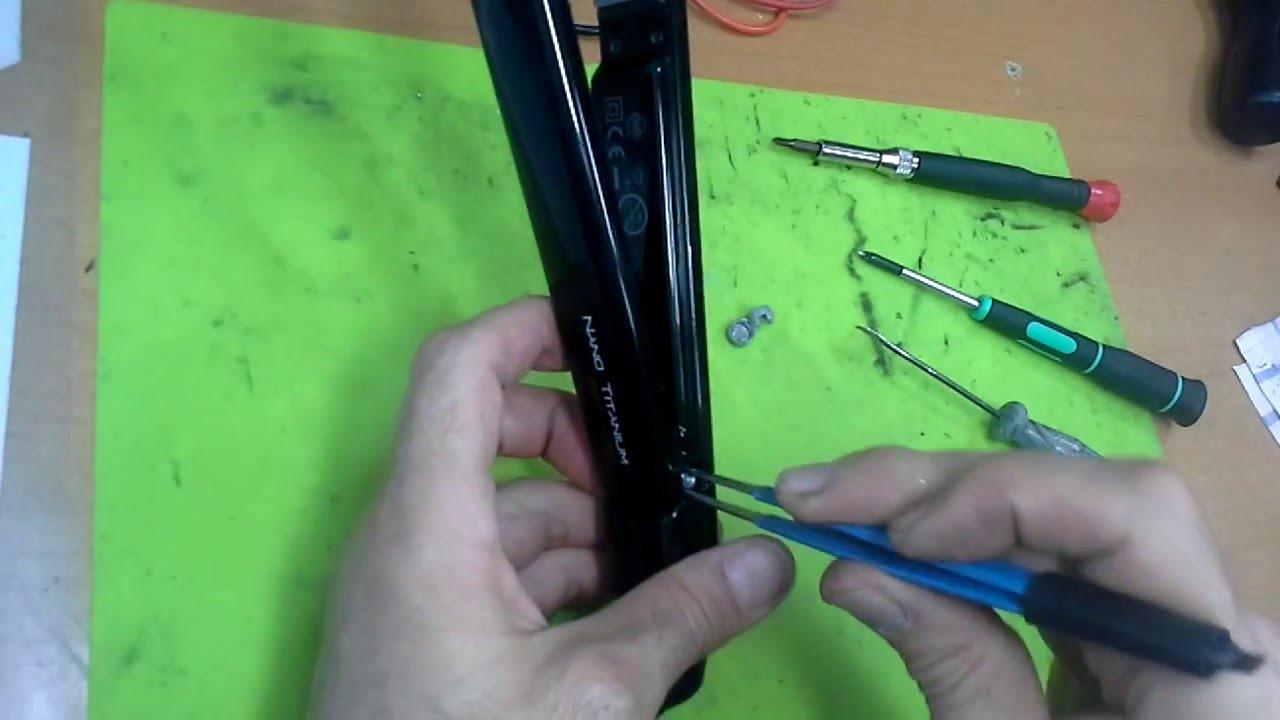 сгорел резистор у выпрямителя для волос
