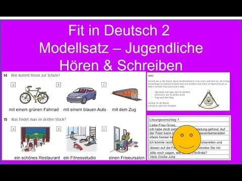 Fit in Deutsch 2 Hören & Schreiben ||  German Listening Exam A2