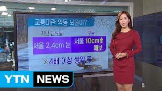 [날씨] 서울 등 중부 대설주의보...출근길 교통 대란 / YTN