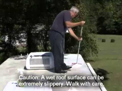 Cleaning and protecting an RV roof