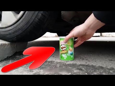 EXPERIMENT CAR VS PRINGLES