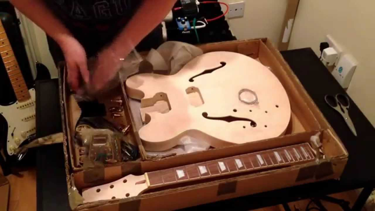 Guitar Warehouseie Unboxing Part 1 Hollow Body Diy Kit Telecaster Wiring Kits Electronics Parts Youtube