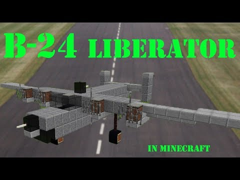 Consolidated B-24 Liberator WWII bomber in Minecraft