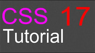 CSS Layout Tutorial - 17 - The Fixed Layout Part 2