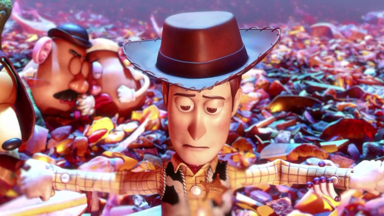 Toy Story 3 Escena Del Incinerador De Basura 1080 Castellano Youtube