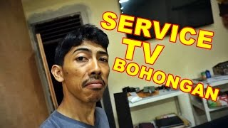 TV LED Blank Gelap Bergaris VLOG70