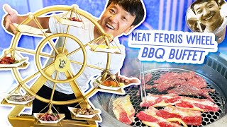 All You Can Eat SPINNING BBQ BUFFET \u0026 Chinese STREET FOOD   Chicago CHINATOWN Food Tour