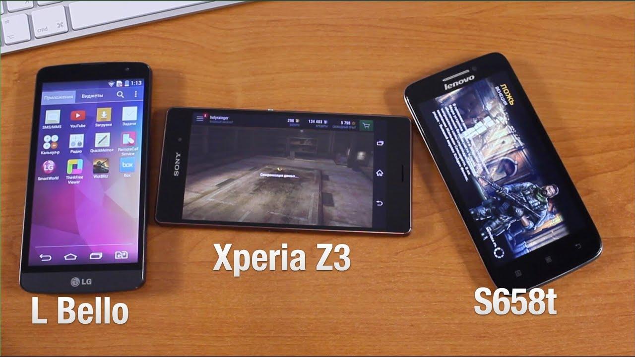 Sony Xperia Z3, Lenovo S658t, LG L Bello  Осмотр Устройств