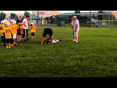 Avery Running/tackle drills
