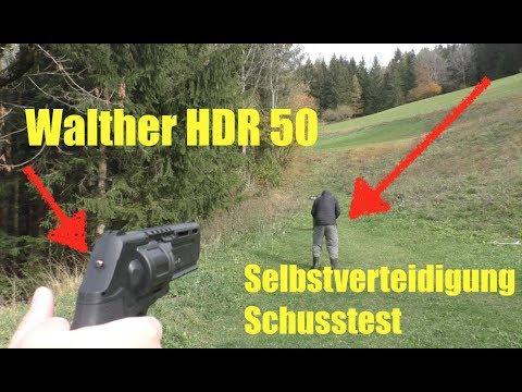 Selbstverteidigung Walther HDR 50 mit Schusstest