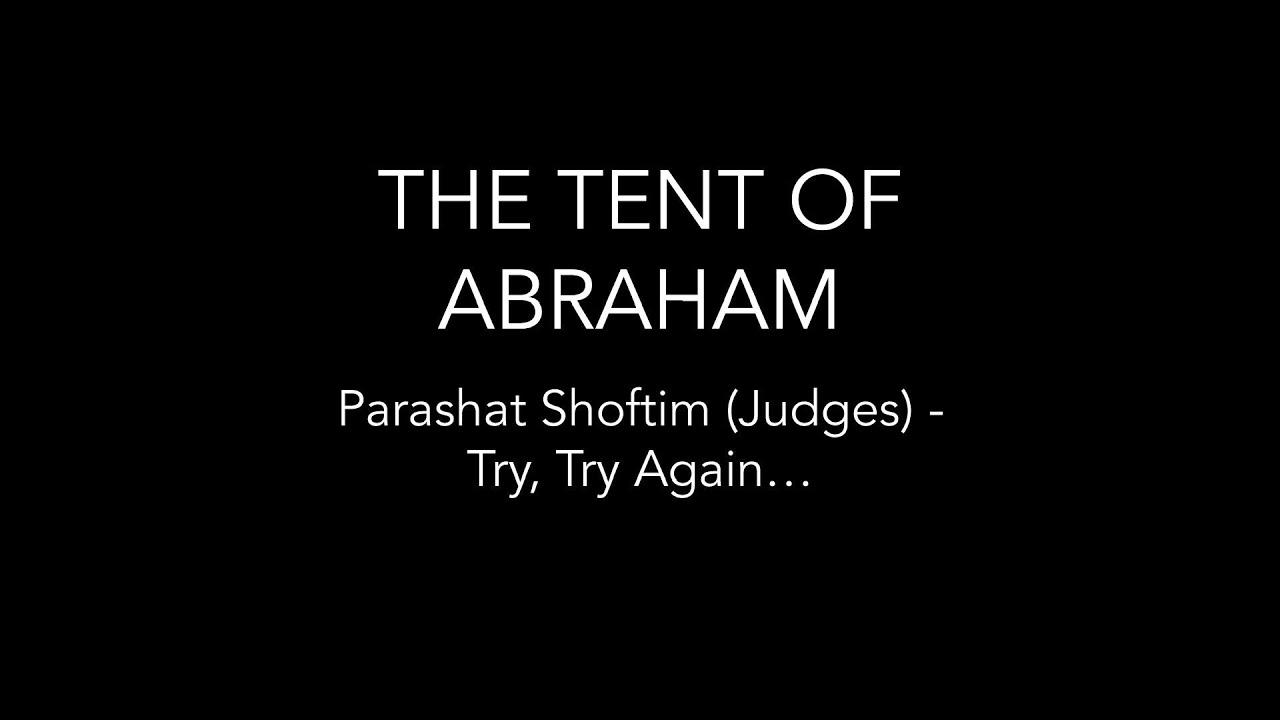 Parashat Shoftim (Judges) - Try, try again…