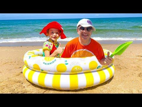 Настя и весёлое приключение на пляже