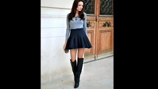 How to Wear Fashionable Casual Combinations with Skirts and Dress