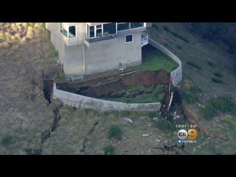 Landslide Threatening Malibu Home