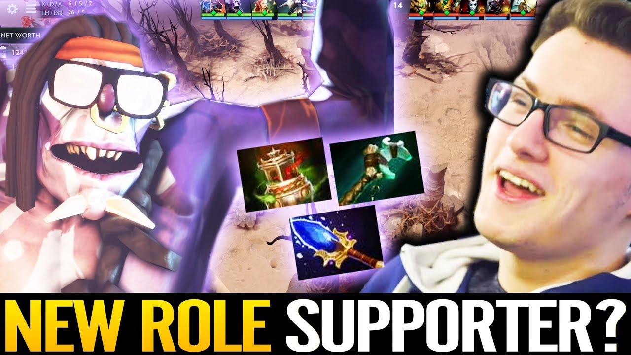 Miracle New Role Hard Support - STILL CANCER!!! 10k mmr Fun Game Dota 2