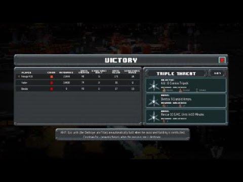 8-Bit Invaders - Galactic Marines Campaign ***3 Stars*** (Hard) - Mission 03 (Triple Threat) |