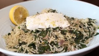Spanakorizo (spinach & Rice Pilaf)/dimitras Dishes Episode 11