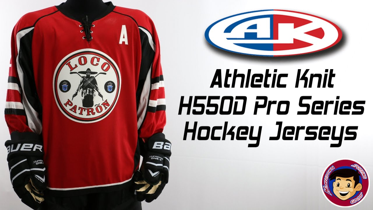 58e9dc0d664 Athletic Knit H550D Pro Series Hockey Jerseys - Homegrown Sporting Goods -  YouTube