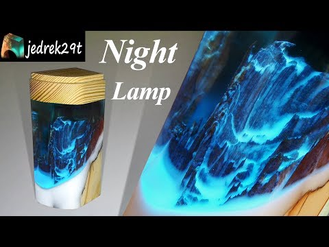Night Lamp with Resin and Wood 💡