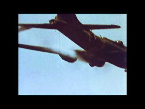 B-17 Flying Fortress Attacked by Me-109s