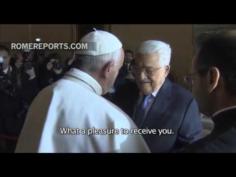 Mahmoud Abbas meets with Pope Francis at the Vatican