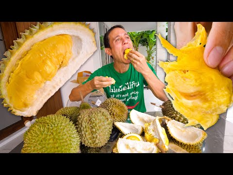 Durian Fruit in Thailand 🇹🇭- Trying 8 Different Varieties of the World's Best Fruit!!