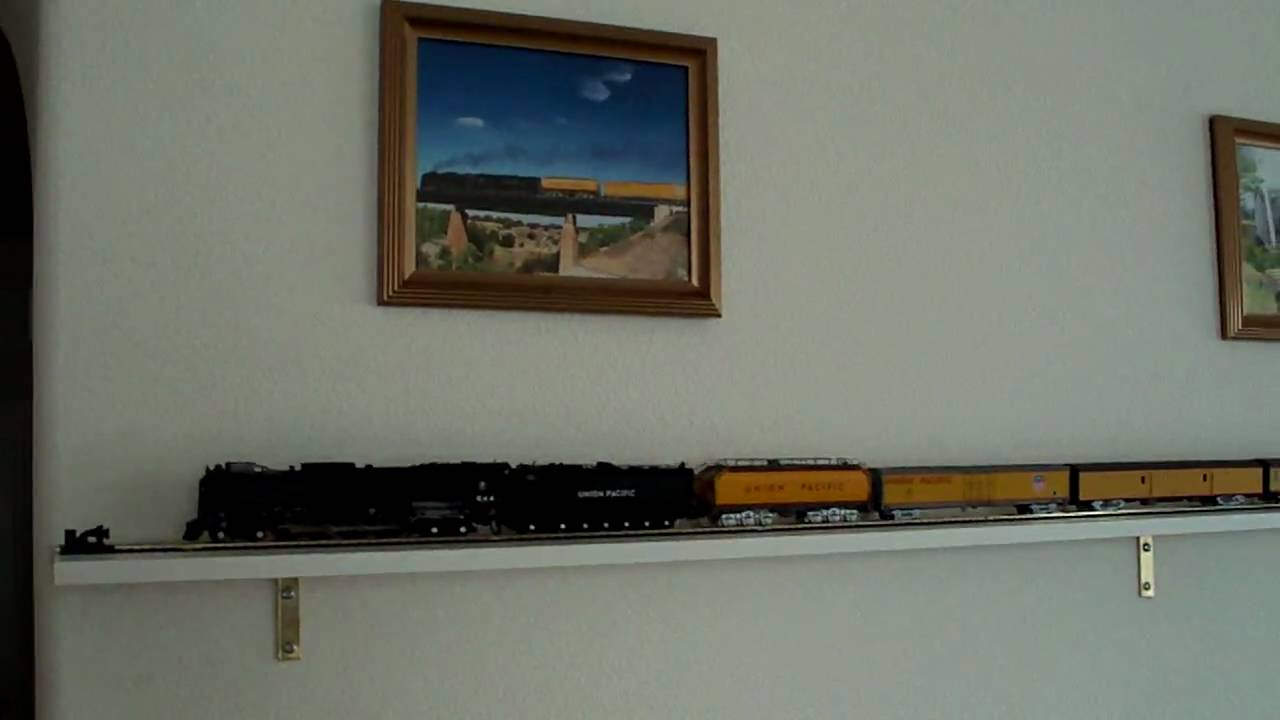 Some interior decorating with a wall display of HO Scale Union Pacific 844 with DCC and sound