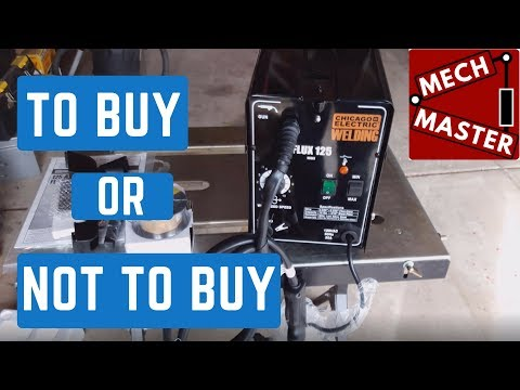 Harbor Freight 125 Welder Un boxing, Review, and Test