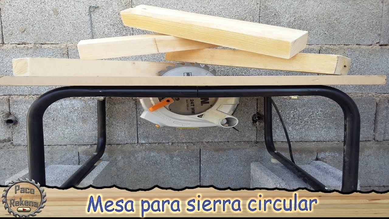 Mesa de corte con sierra circular youtube - Sierra circular de mesa barata ...