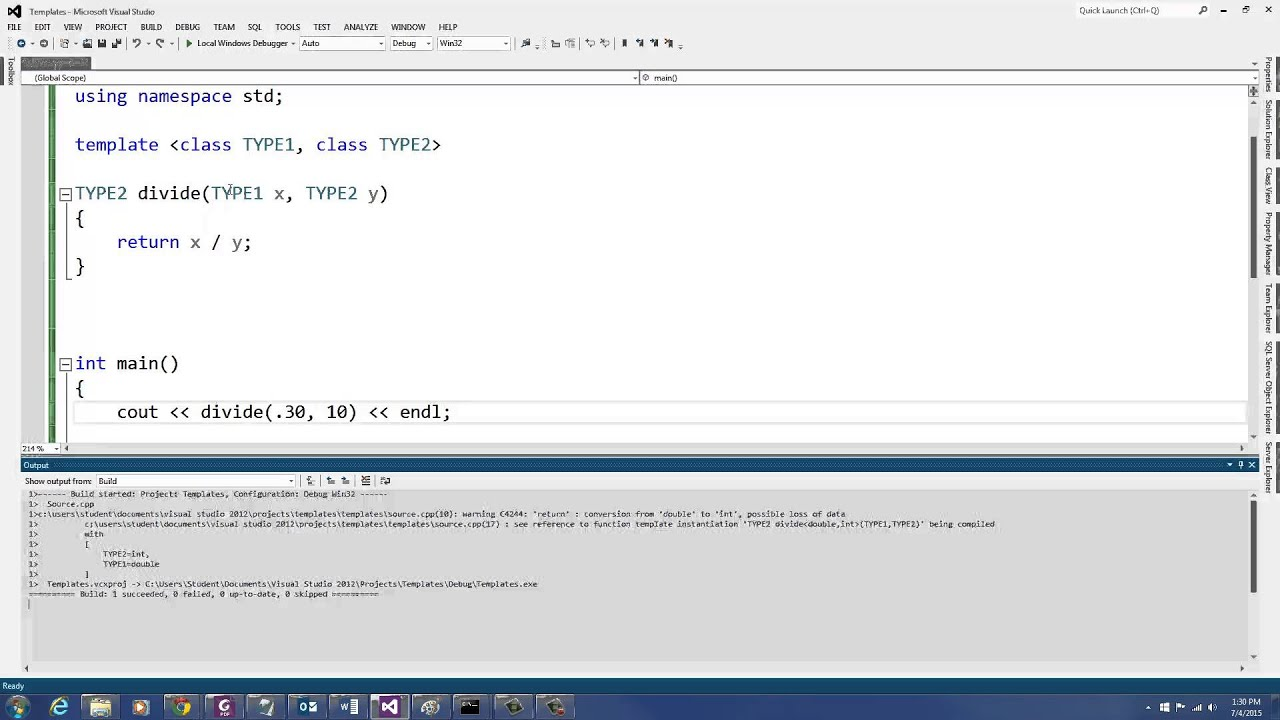 C++ Programming: Function Templates and Exception Handling - YouTube