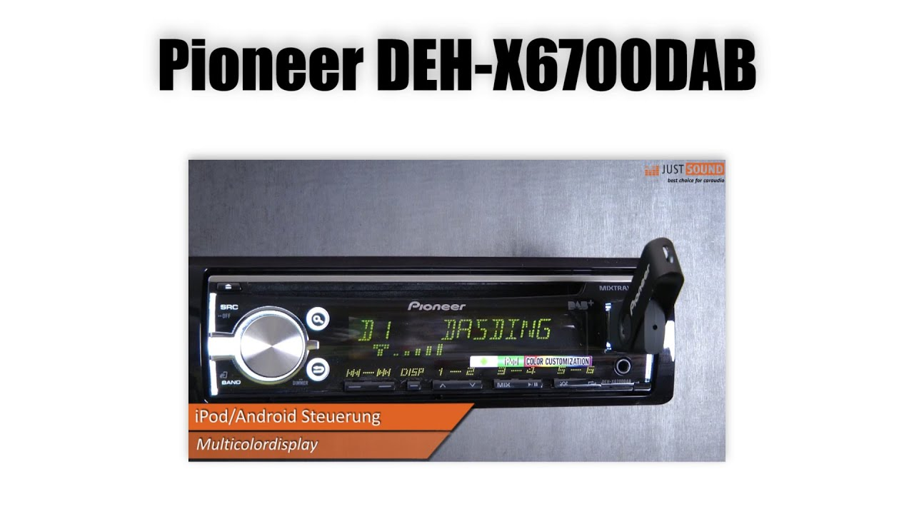 pioneer deh x6700dab autoradio dab auto radio. Black Bedroom Furniture Sets. Home Design Ideas