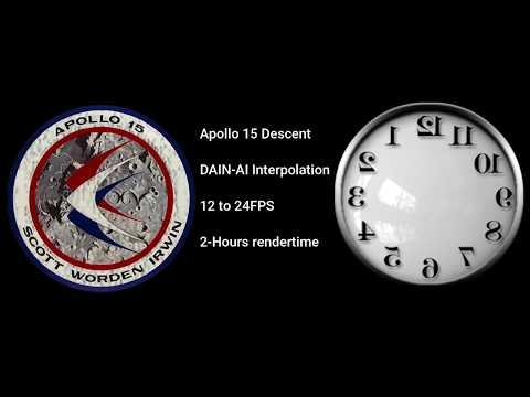 Apollo 15 Landing 24fps Interpolated