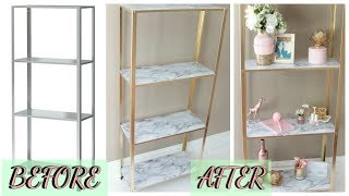 EASY DIY | MARBLE AND GOLD SHELF | IKEA HACK
