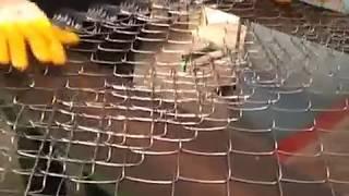 видео производство сетки-рабицы