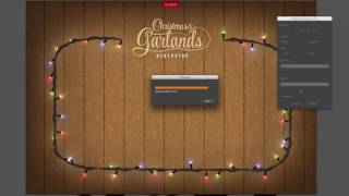Adobe Illustrator Christmas and New Year Garlands Generator
