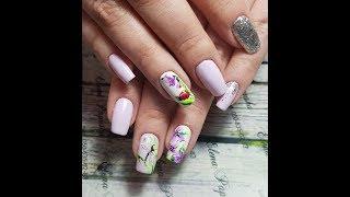 Весенний экспресс дизайн ногтей гель-лаком. Рисуем стрекоз и божьих коровок. Весна 2018