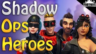 FORTNITE - New Mythic Soldier Raven Perks, All 4 Shadow Ops Hero Classes, 6 New Military Weapons