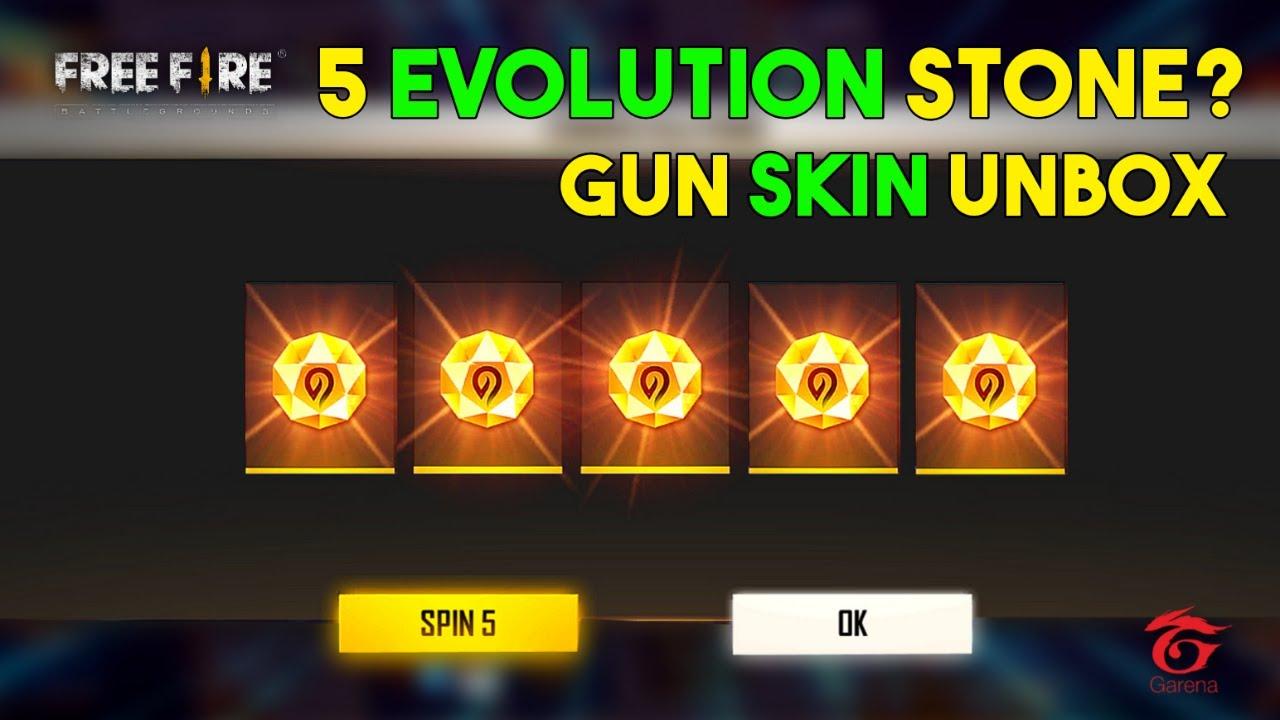 I Got 5 Evolution Stone? Gun Skin Unbox - Garena Free Fire