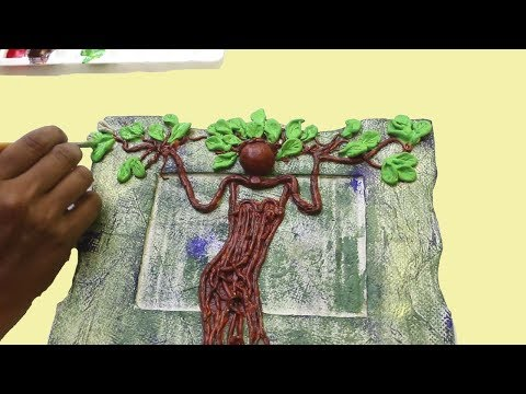 ❣DIY Old Tree Art - Antique Showpiece | Clay Craft Idea | Human Tree Art With Clay ❣