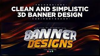 C4D/Photoshop Tutorial: Clean and Simplistic 3D Banner Design