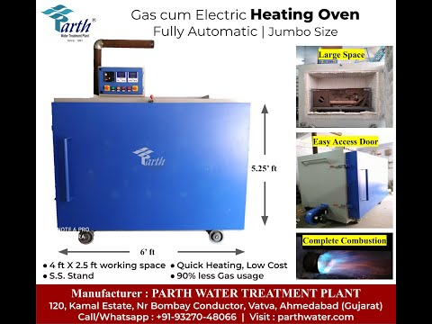 Gas Oven for heating metals from Parth Water Treatment Plant