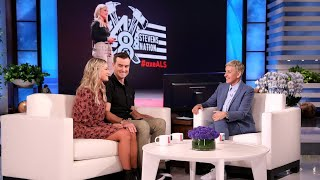 Ellen Welcomes Back Motivational Firefighter Battling ALS