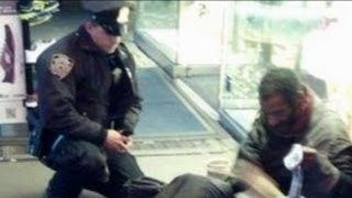NYC Police Officer's Chivalrous Act Towards Homeless Man